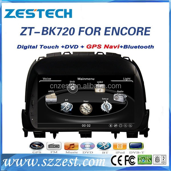 NEW car Dashboard car multimedia and navigation system for Buick ENCORE HD screen vehicle gps dvd player radio/audio/video music