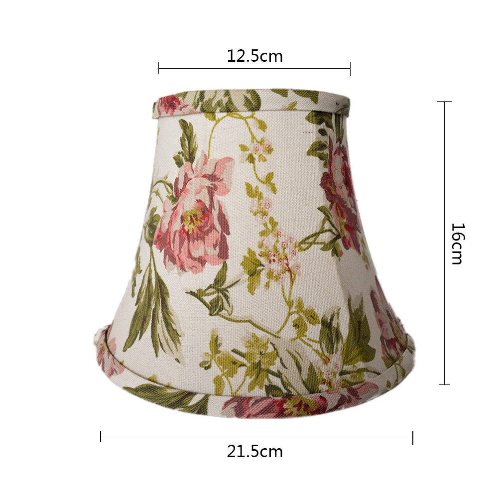 wholesale cheap vintage flowers linen fabric home lighting lampshade
