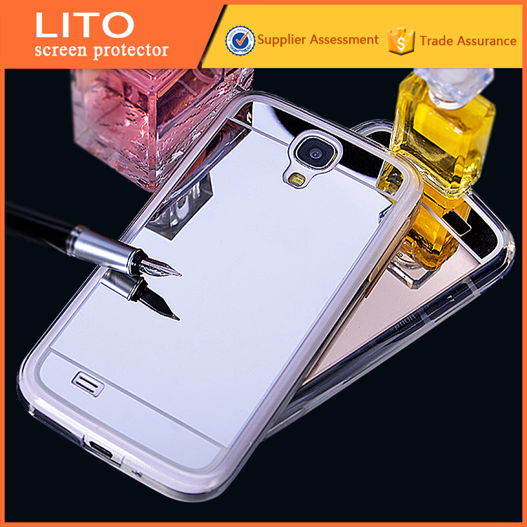 New arrival silver mirror skin soft clear gel Tpu mobile phone accessories for samsung galaxy s4 case