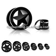 Wholesale high quality pentagram ear plugs