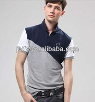 Hot selling men's fashion splot joint polo 2013