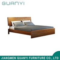 New modern king double sponge oak wooden bed luxury designs furniture
