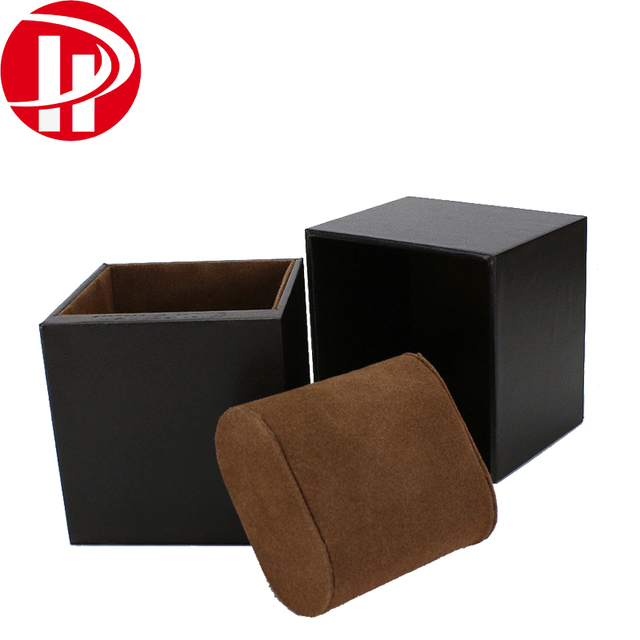 Custom Luxury White Black Watch Packaging Box With Pillow For Men Bangle Bracelet Jewelry Packing PU Leather Watch Box
