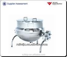 500 liter double jacketed kettle , stainless steel steam cooking pot