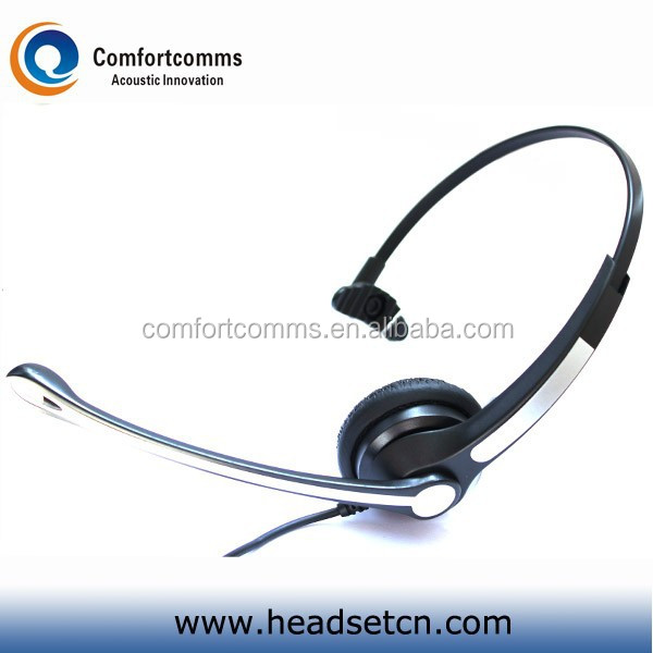 Call center computer headset double 3.5 mm plug