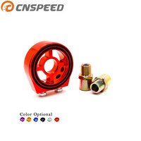 CNSPEED Engine Transmission Oil Cooler Single Oil Filter Sandwich Plate Adapter