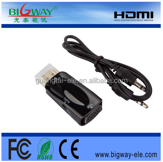 High quality hdmi to vga adapter mini hdmi to vga adapter 2015 hot sale