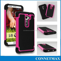 For LG G2 Case ,Hybrid Dual Layer Defender Protective Case Cover (Hard Plastic with Soft Silicone)