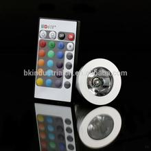 Direct selling 16 colors remote controller 3w led rgb spot light manufacturer