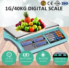 counter scale with label printer