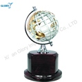 Best Office Decoration Metal Globe With Wooden Base