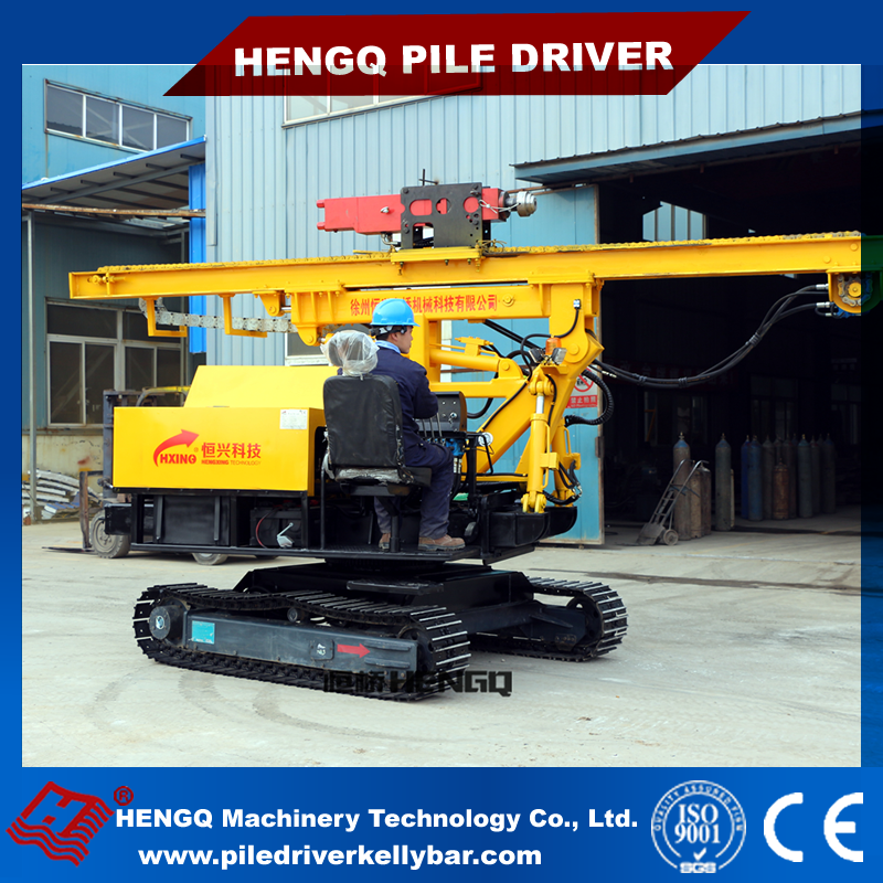 HENGQ supply Pile Driver screw function pv power photovoltaic piling machine