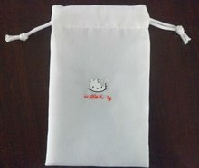 hello kitty print velvet cell phone drawstring pouch