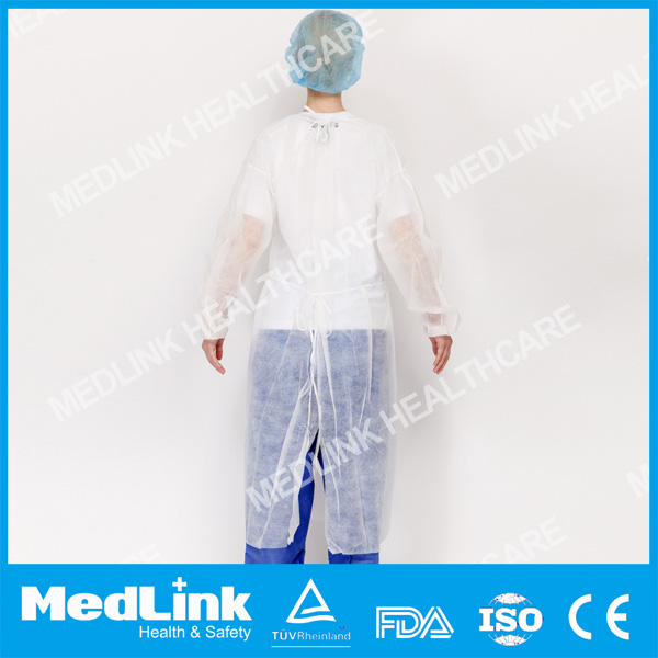 AAMI Level 3 white Over Head CE Approval Medical Useful Disposable Isolation Gown