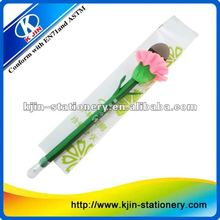 cute flower ball pen with paper box,Cute Ball Point Pencil with Logo