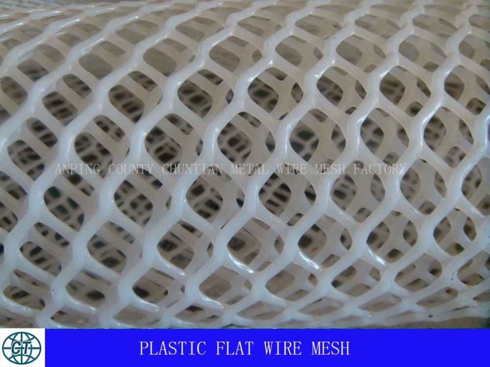 flat plastic wire mesh 2cm to 3.5cm for agriculture feeding