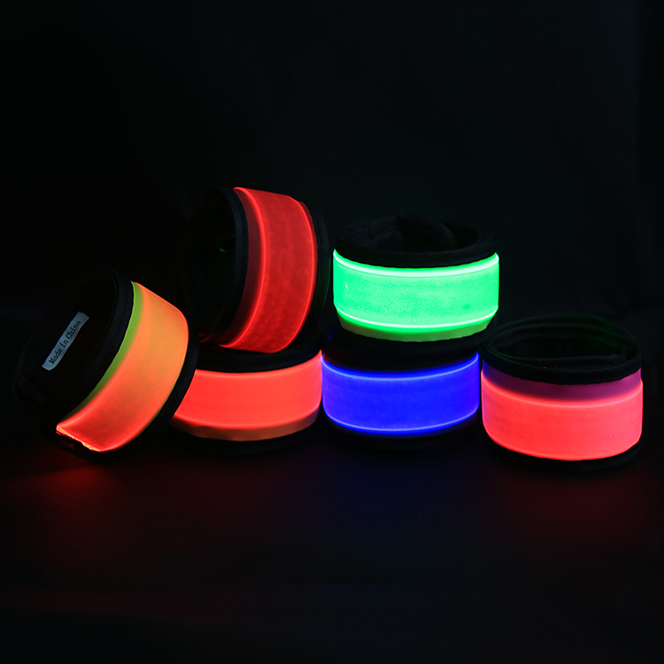 Fashion Outdoor Running Armband LED Slap Bracelet Be Seen Be Safe