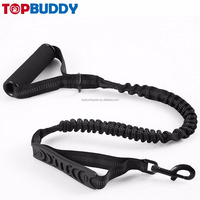 Premium Foam Barrel Handle Shock Absorbing Reflective Bungee Double Traffic Control Handle Dog Training Lead Leash