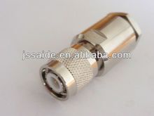 Zhenjiang TNC type male plug clamp RF connector for RG213