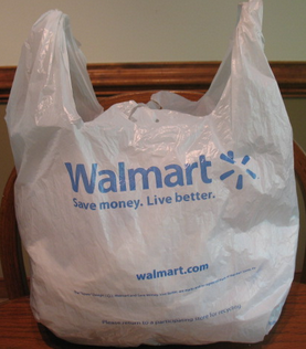 Walmart Plastic print strong Shopping Bags