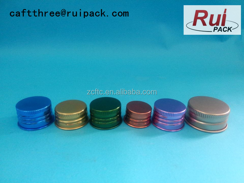 24-410 red aluminum lid, colored aluminum lid for water bottle, food grade aluminum lid