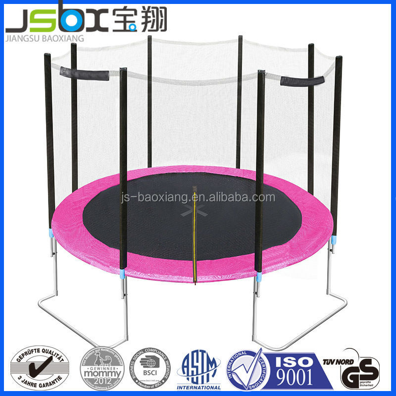 12ft foldable outdoor super jumper trampoline folding trampoline With Safety Net For Kids