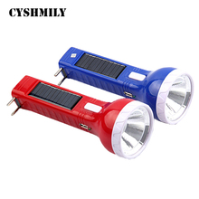 CYSHMILY Energy saving 1w Plastic laptop rechargeable high bright usb camping solar torch light