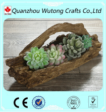 wholesale different types tree stump custom printed flower pots