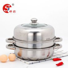 2 Layers Large Stainless Steel Cooking Pots Commercial Dim Sum Steamer Dimsum Steamer