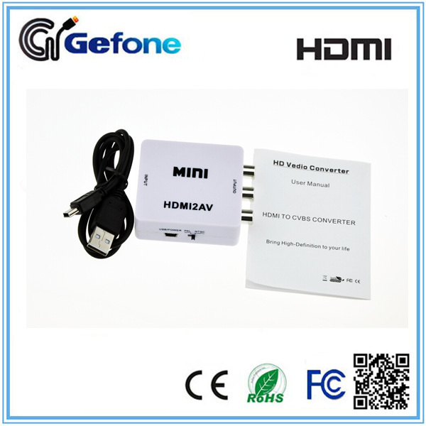 Mini HDMI Converter to AV with NTSC and PAL TV Format
