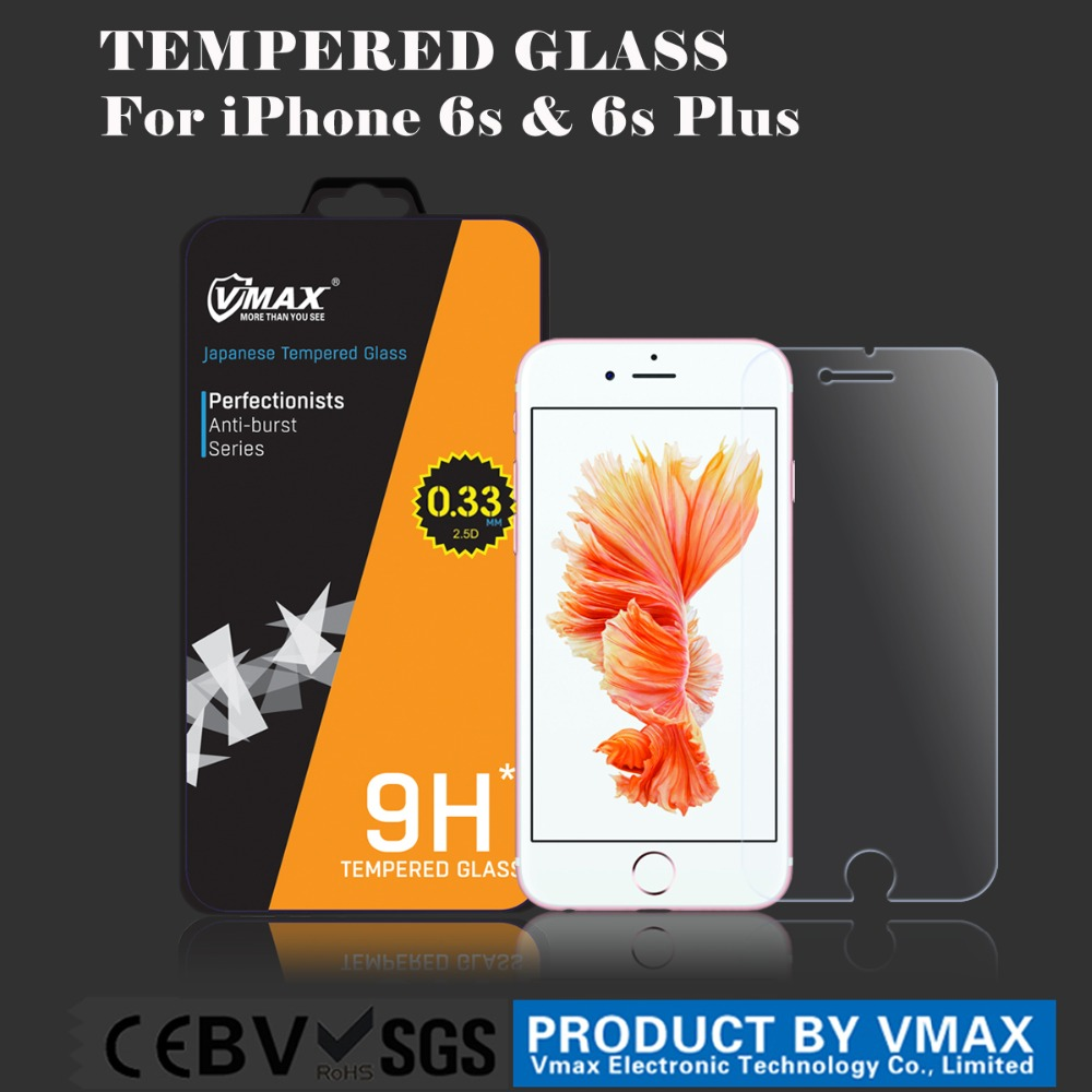 Wholesale 0.33mm Clear Anti-Glare Oleophobic 2.5D Mobile Phone 9H Premium tempered glass screen protector for iPhone 6s