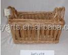 Willow Storage basket / wicker weaving basket with handle HDww-0040