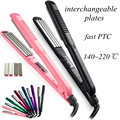 2 in 1 Classic LED Hot Tools Hair Crimper and Flat Iron with Titanium Interchangeable Plates Online Large Hair Crimper Waver