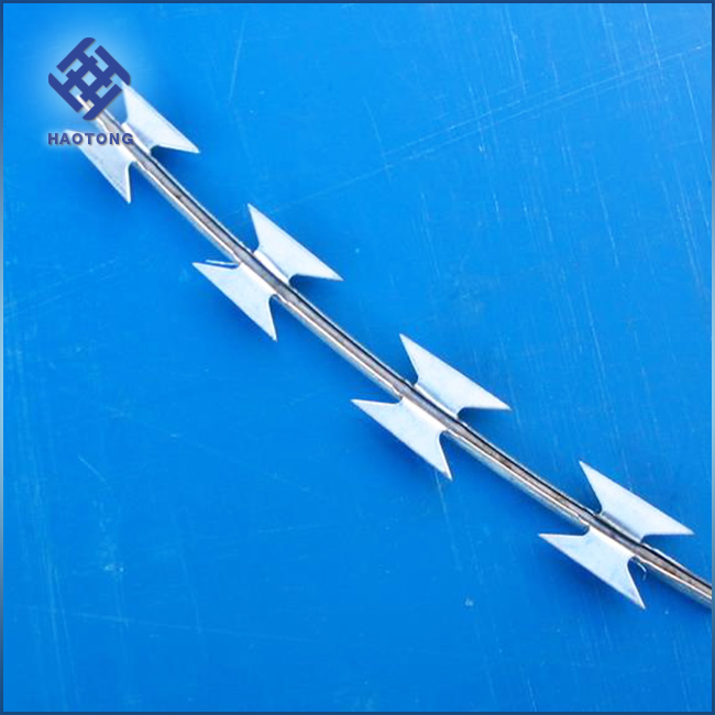 high qulity Hot Dipped Galvanized Razor Barbed Wire/Stainless Steel Razor barbed wire