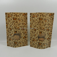 le trio coffee stand up kraft paper bags/250g kraft paper bags with ziplock