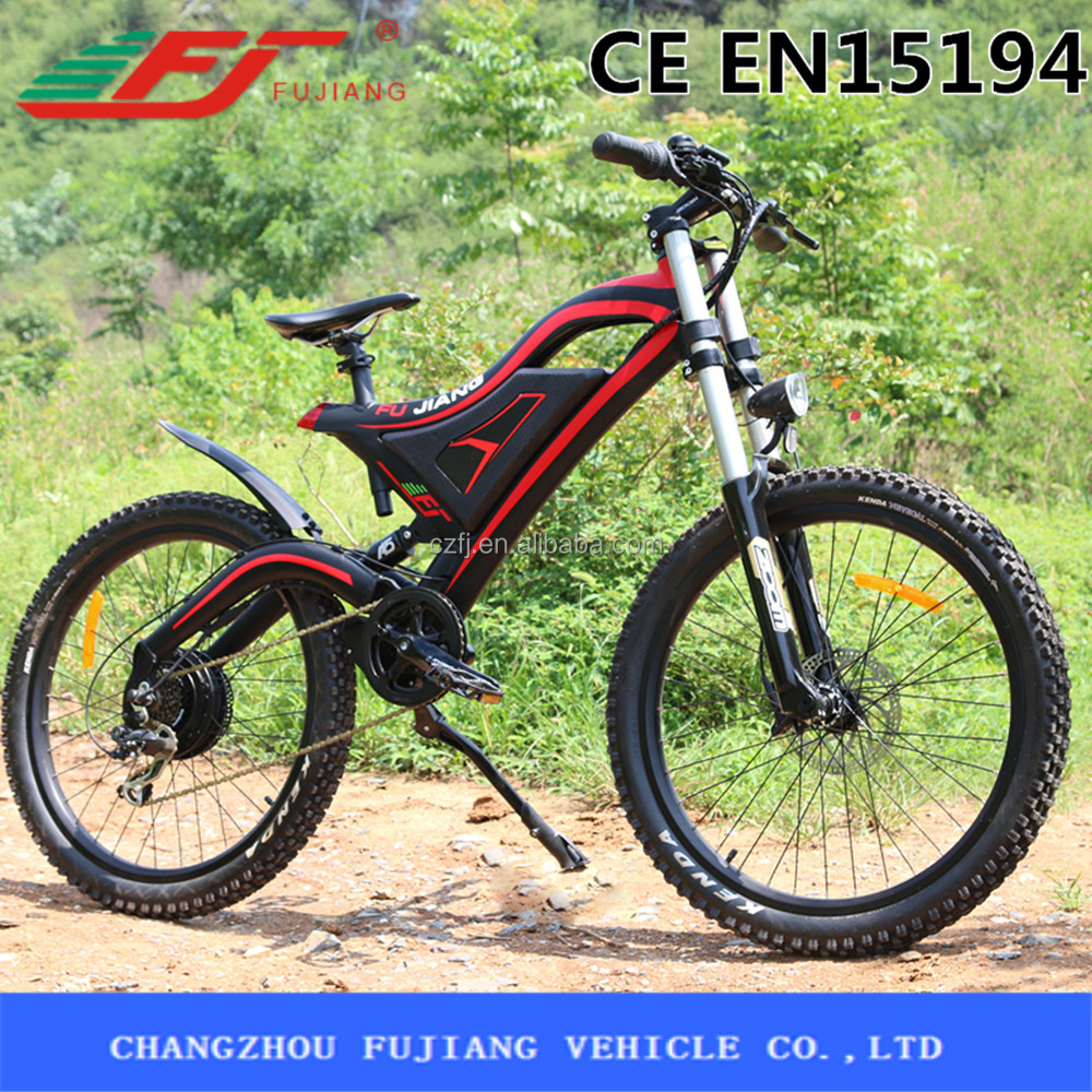 Hot sell Chinese off road montain electric <strong>bike</strong> with mudguard and rear suspention