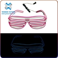 EL blinds luminous glasses led sound Activated LED Sunglasses , el wire sunglasses