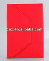 360 Degree Rotating Flip Stand PU Leather Red Case For Apple iPad Mini