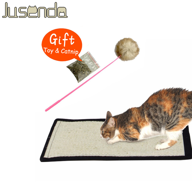 Safe Cat Scratch Pad Board Protecting Furniture Foot Natural Sisal Cat Scratching Post Toy For Cats Catnip Tower Climbing Tree