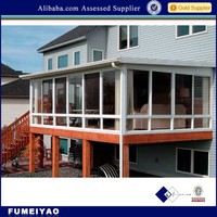 laminated glass roof aluminum wood sunroom