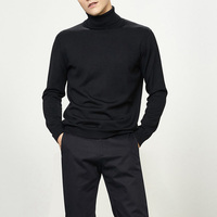 Mens Roll neck Knitwear Good Quality Slim Fit Blank Knitted Sweater
