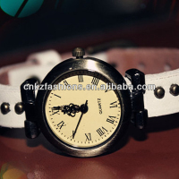 vintage teen rivet white watches for women
