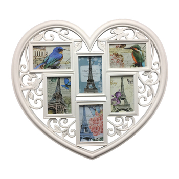 Simple styl heart shaped lovely picture plastic photo frames for collage picture frames cheap