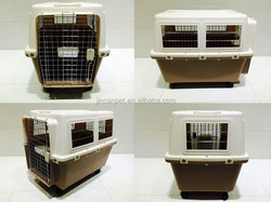 Pet Products Plastic Dog Crate with double spring strainless steel door