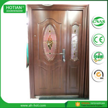 Luxury Oval Glass Inserts Exterior Doors Design High Quality Oval Glass Steel Entry Door