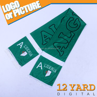 New design sports match polyester/silk/stain knitting pattern scarf