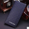 Male long sheepskin woven Wallet Leather Wallet Card Wallet Purse slim young men
