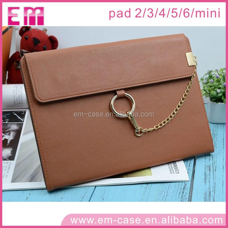 For iPad 23456/Mini1234 Elegant Ring Chain Purse Design Leather Shell Flip Case