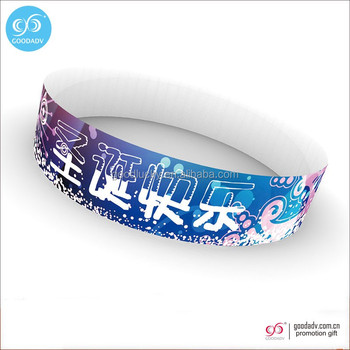 Disposable paper identification bracelet custom entertainment game place tickets wristbands