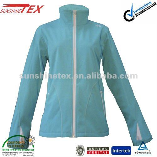 Womens brand label garment, softshell jacket from chinese clothing companies
